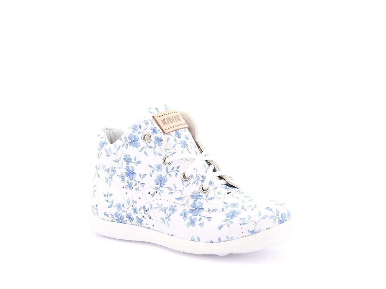 b0c4d9b2 Lära-gå-sko i skinn med snörning blommig