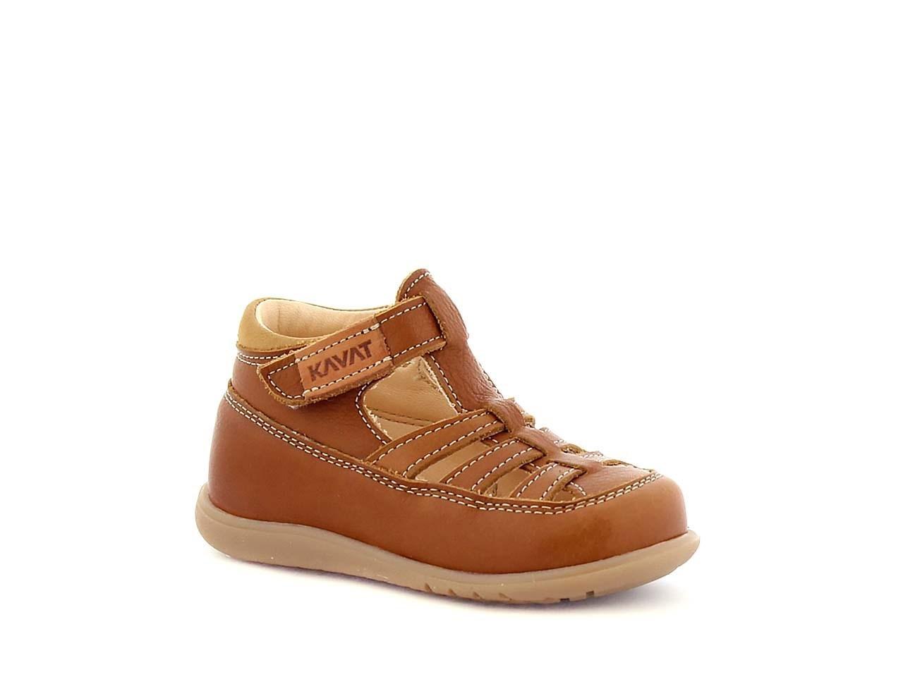 brun sandal i skinn
