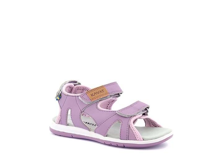 Sportig lila sandal med justerbara kardborreband