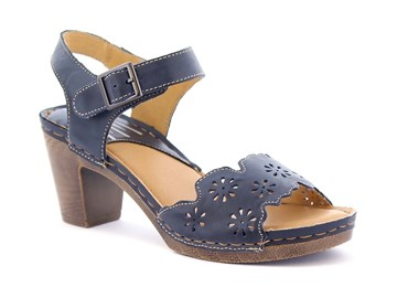 blå sandalett